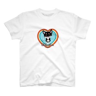 FOXY COLORSのチワワ ブラックタン T-Shirt
