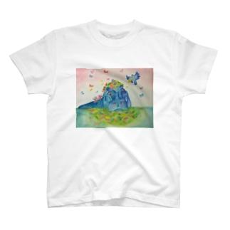 花の帽子 T-shirts