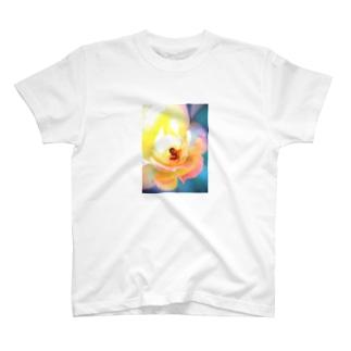 朝陽に輝く薔薇 T-shirts