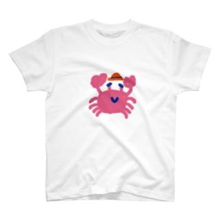旅に行くカニ T-shirts