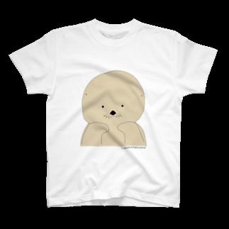 ラッコの「らー」のラッコの「らー」ほおづえver. T-shirts