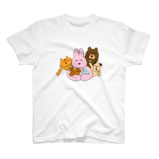 うさちんと仲間たち Tシャツ
