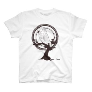 鳥グッズ(タイハクオウム) T-shirts