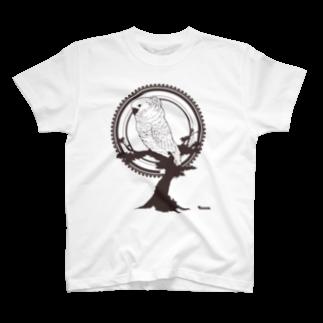 ろう飼い主の鳥グッズ(タイハクオウム) T-shirts