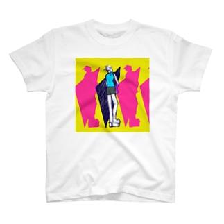 夏の爽やかgirl T-shirts