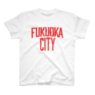 福岡シティTシャツ(レガシー赤)  T-shirts