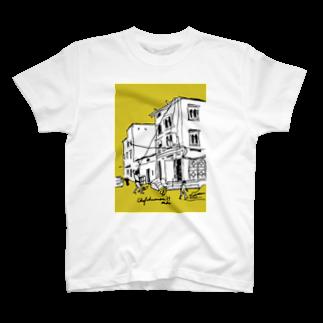 mika_designの荷物を引く男 T-shirts