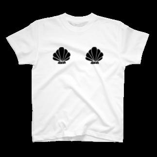 明季 aki_ishibashiの貝殻バスト T-shirts