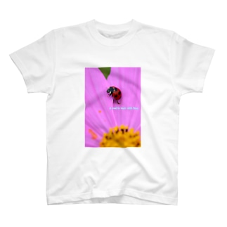 コスモスに天道虫 T-shirts