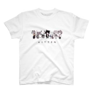 猫少年Tシャツ(セピア) T-shirts