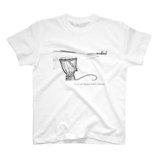 ジャンベと宮古の海 T-shirts