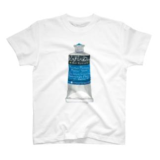 絵の具・青 T-shirts