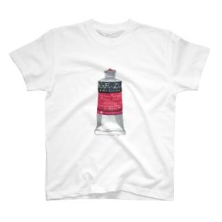 絵の具・赤 T-shirts