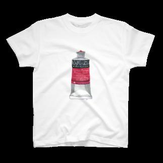キリフリ谷の藝術祭の絵の具・赤 T-shirts