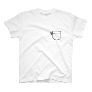 ひょっこりイタグレ T-shirts