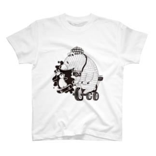 白黒道場-のりもの- Tシャツ