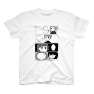 白黒漫画調withげーむやかん T-shirts