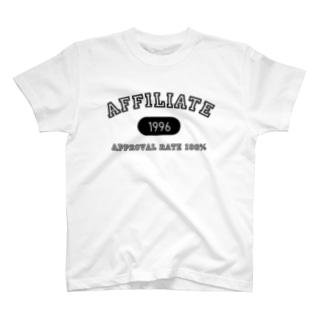 アフィリエイト(黒) T-shirts