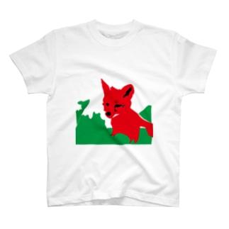 子キツネの旅立ち T-shirts