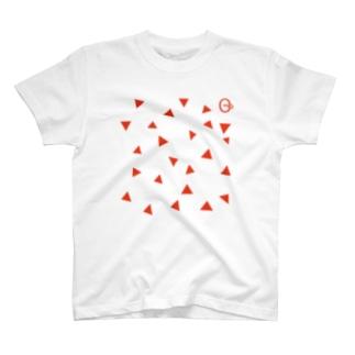 【衣装用】otonock カケラ大(朱) T-shirts