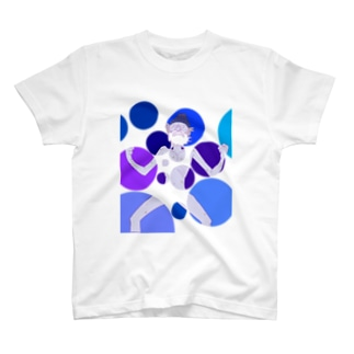 ghostpia ショートスリーブTシャツ【ブルージジイ[Restructuring]】 T-shirts