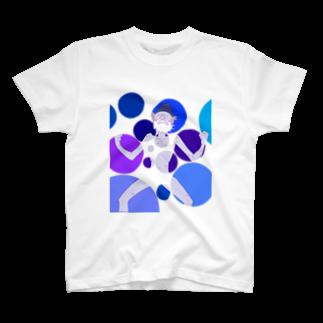 超水道のghostpia ショートスリーブTシャツ【ブルージジイ[Restructuring]】(5000円バージョン) T-shirts