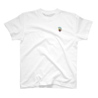 果物ドレスの魚(黄色) T-shirts