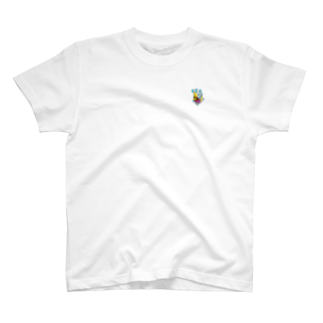 おさるん家の果物ドレスの魚(黄色) T-shirts