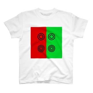 眼科の赤と緑 T-shirts