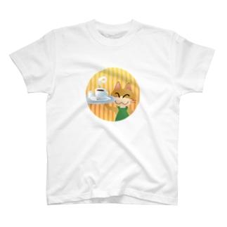 ねこオーナーのコーヒー T-shirts