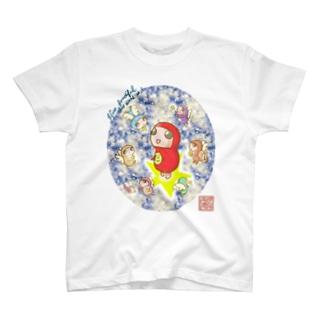 だるまちゃんと天使 in universe T-shirts