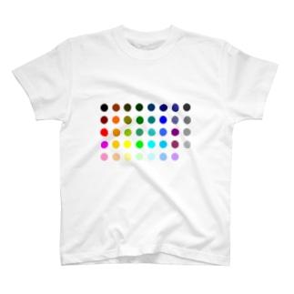 カラーパレット T-shirts