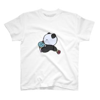 ぱんだとアイスの誘惑 T-shirts