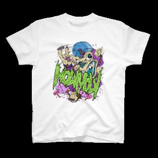 HOLYMOLYのFxxkin Bixxh T-shirts