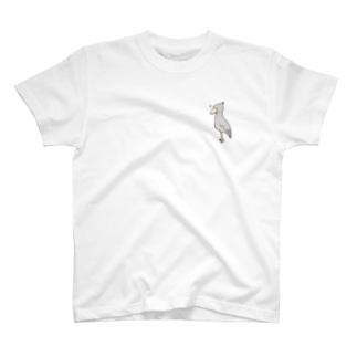 るんるんハシビロコウ T-shirts