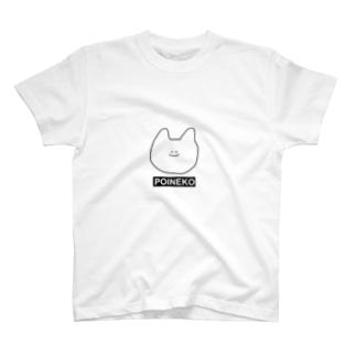 ぽいねこものくろてぃーしゃつ T-shirts
