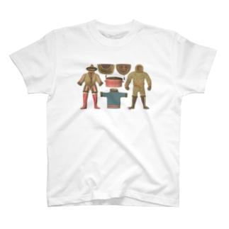 エスキモーの暮らし<アンティーク・イラスト> T-shirts
