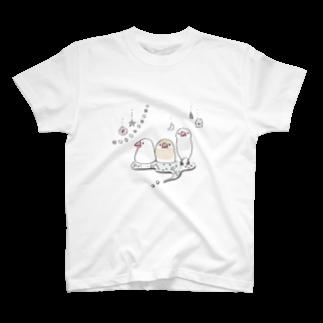 文鳥Day'sのキラキラ文鳥 Tシャツ