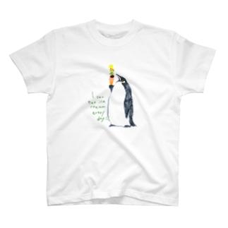 ペンギンとアイス T-shirts
