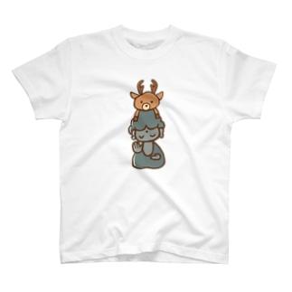 鹿と大仏さん T-shirts