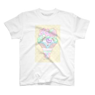 アイスクリーム単眼ちゃん T-shirts