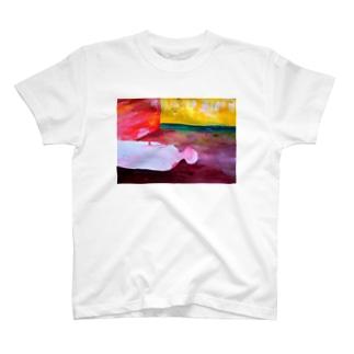 寝る人(カラー) T-shirts