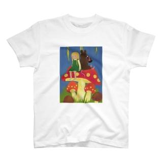 キノコの椅子 T-shirts