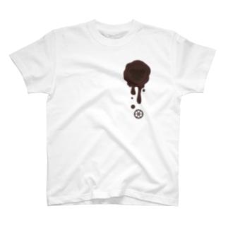 healing-honey(ヒーリングハニー)のチョコ好きさんへ♪【ビターチョコ】healing-honey蝋封風ロゴモチーフ T-shirts