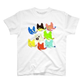 サイケなケモノたちのパーティ T-shirts