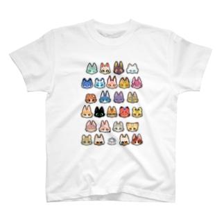 猫科JKアニマルver T-shirts
