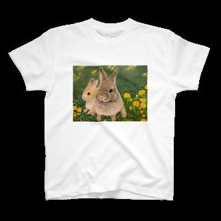 Bambiのクローバーとうさぎちゃん T-shirts