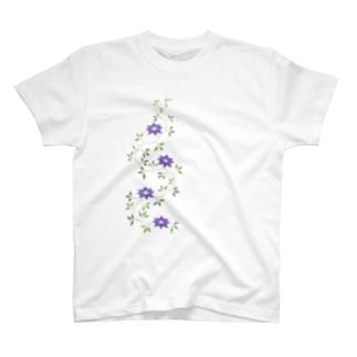 鉄扇の花 Tシャツ