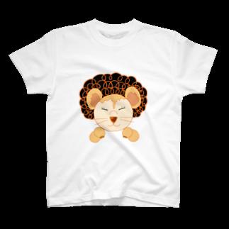 tankovuのボンバーライオン母ちゃん白 T-shirts