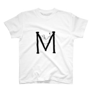 デグーアルファベットM T-shirts